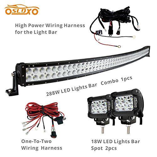 Sldx 288w 50inch off road curved combo led light bar 2pcs 18w spot led light bars aloadofball Image collections