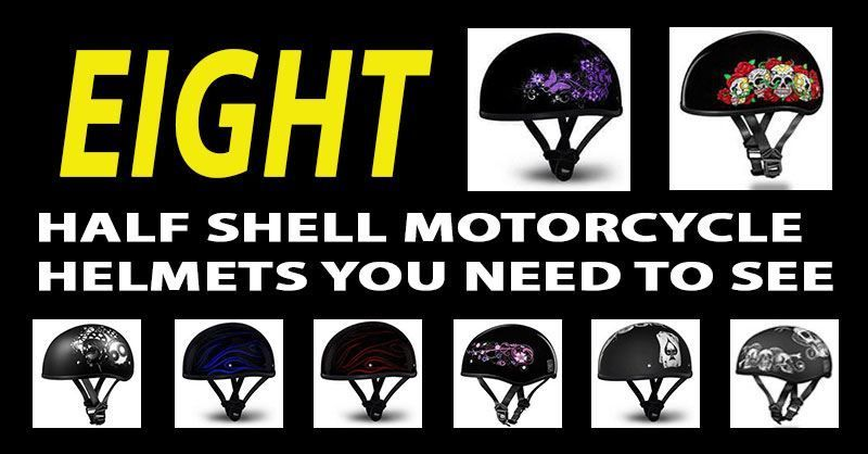 Half shell motor cycle helmets are the most popular helmets at the moment and they are an essential piece of kit that you need to have as a biker.  Half shell motor cycle helmets provide the minimum coverage needed and are less. Regular helmets are very heavy and can really weigh you down. If you want to opt for a lighter helmet, then the half shell helmet is perfect. They protect you from an accident and also look stylish. They also keep your head cool and are really trending lately.