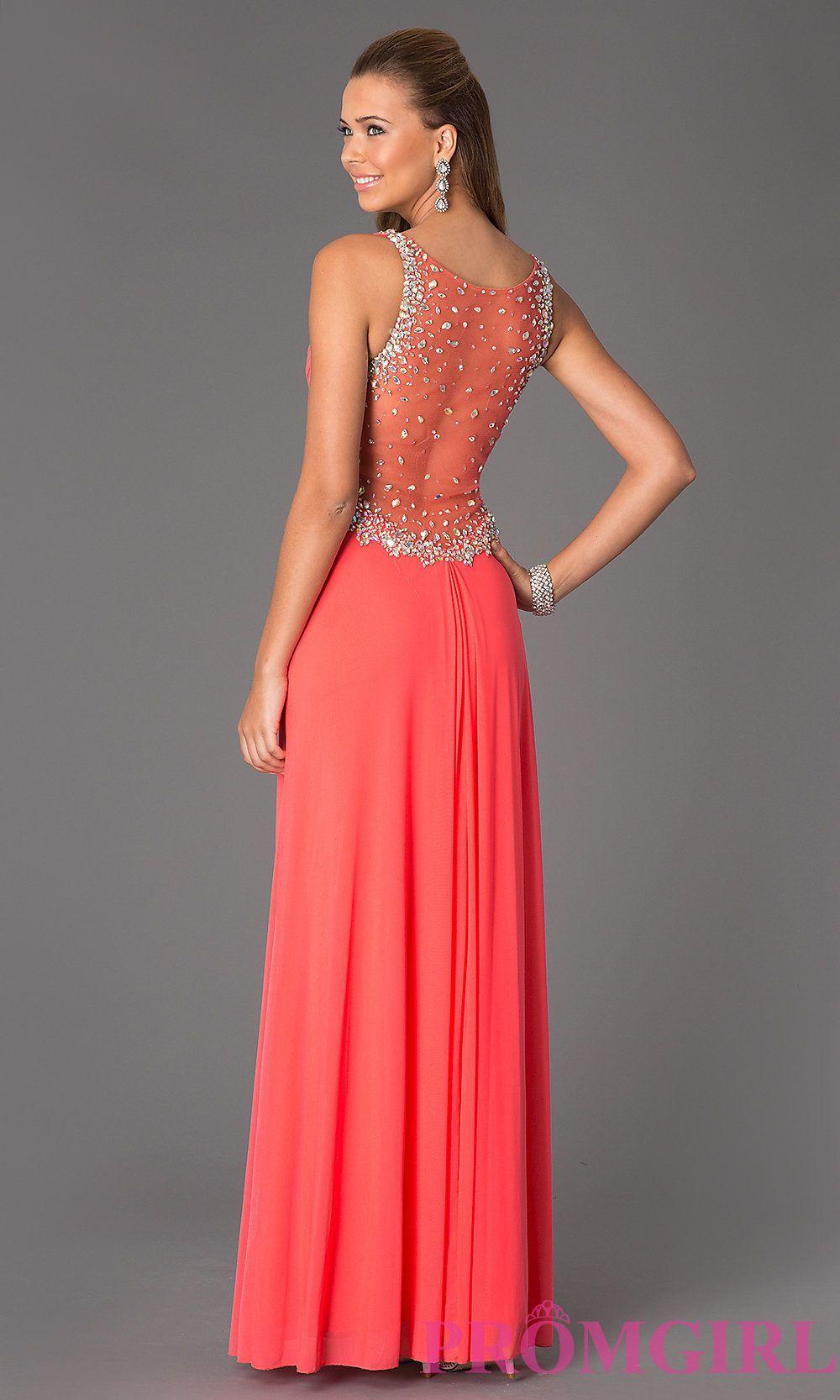 Sleeveless vneck floor length jvn by jovani dress promgirl dress