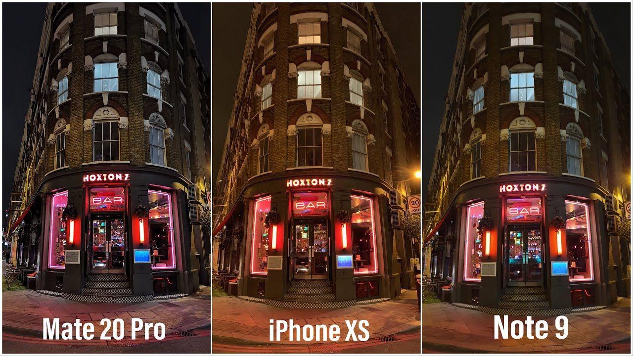 Huawei mate 20 pro vs iphone xs vs samsung note 9