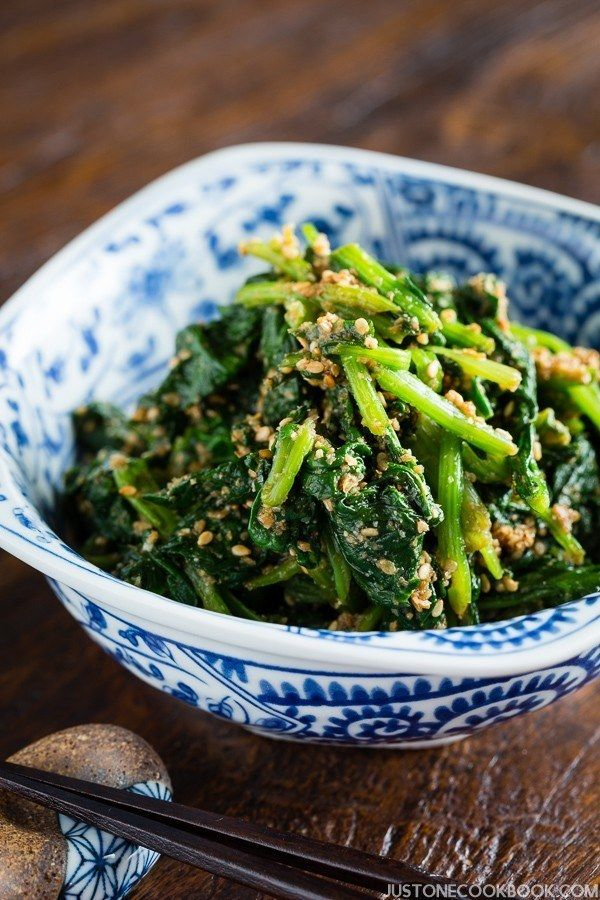 Japanese spinach salad with sesame dressing horenso gomaae spinach gomaae japanese spinach salad with sesame dressing easy japanese recipes at justonecookbook forumfinder Choice Image