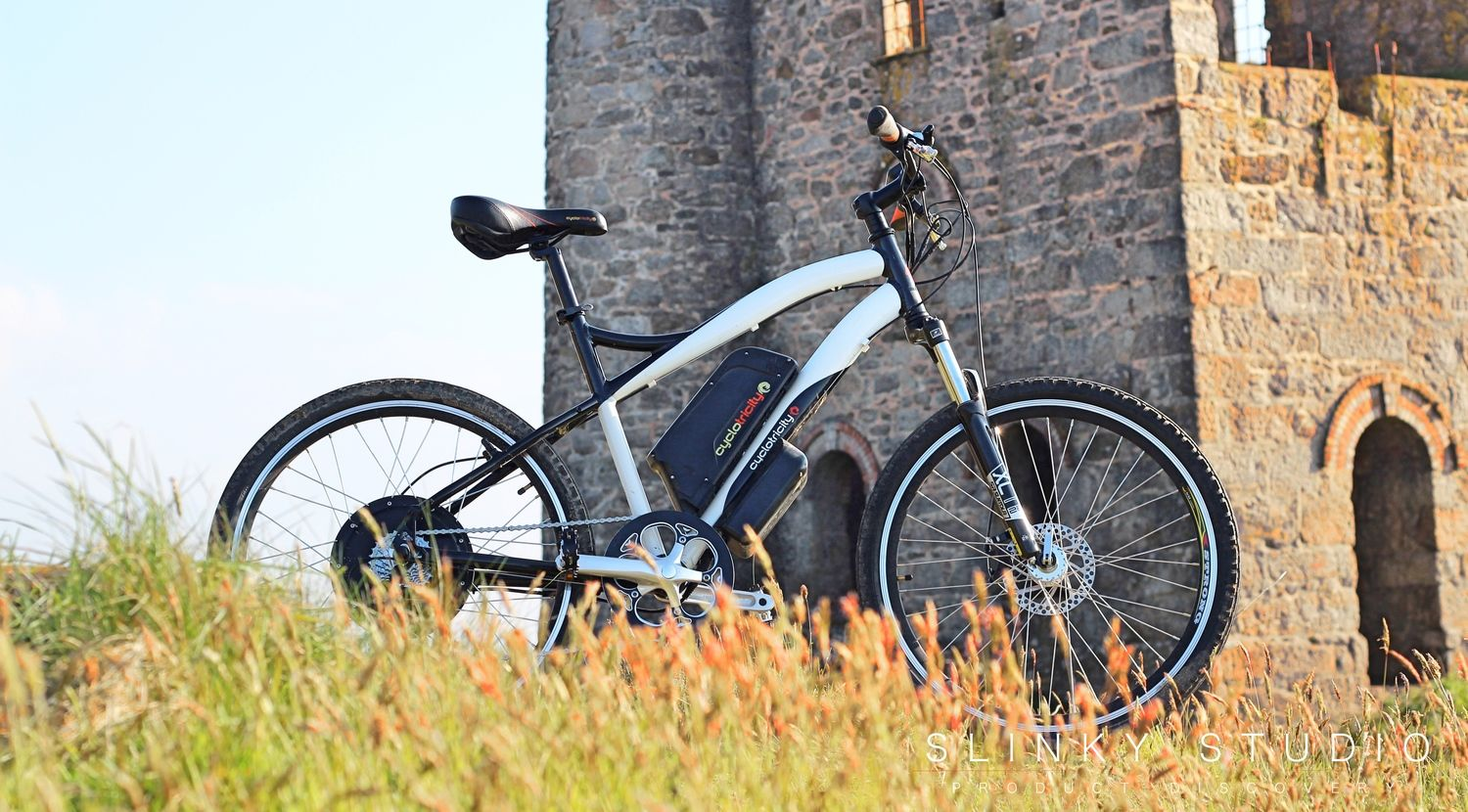 86e431eb740 Cyclotricity Stealth eBike Standing Outside Cornwall Tin Mine An insanely  powerful adrenaline pumping  eBike - Cyclotricity Stealth 1000W eBike Review