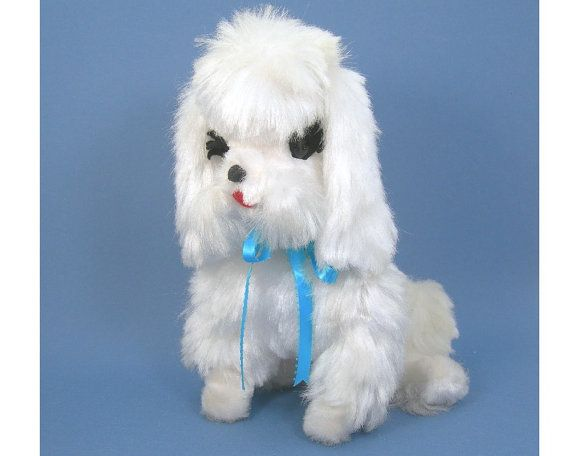 Stuffed White French Poodle Plush Toy The Rushton Company 11