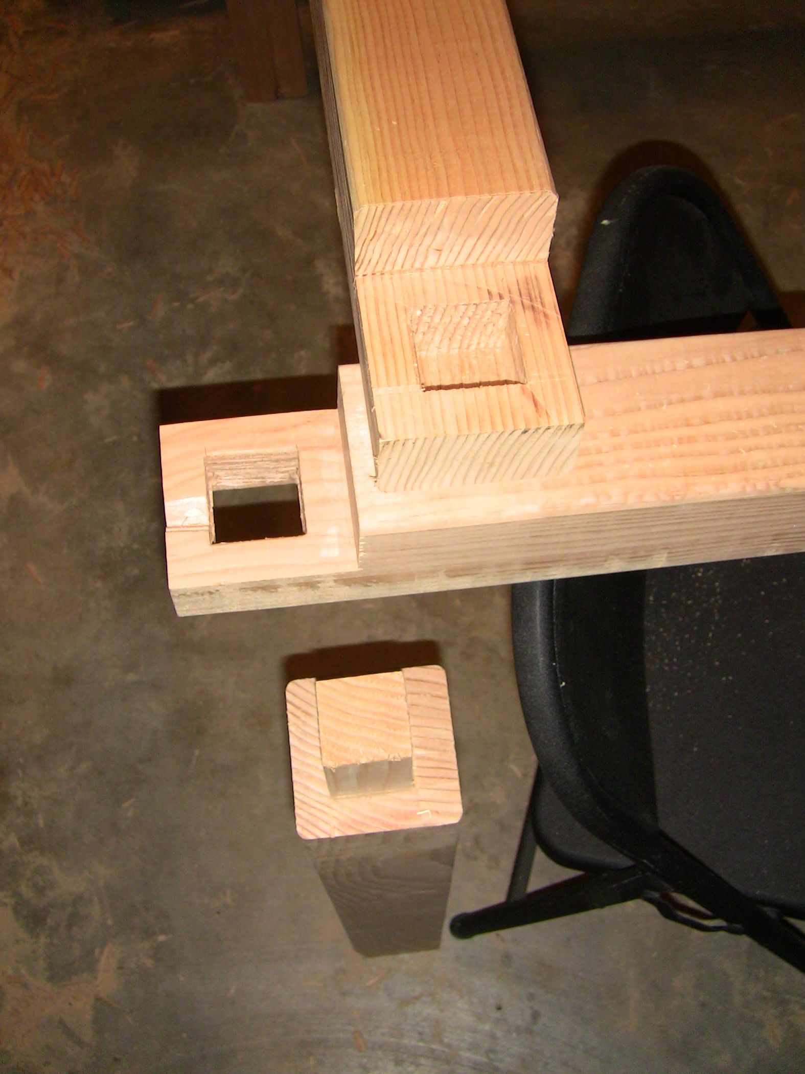 Half lap with mortise and tenon joints ... almost done! Note to ...