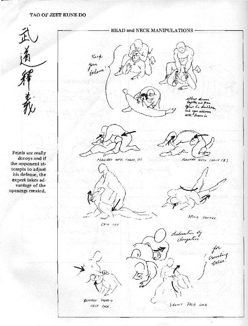 Gutsanduppercuts early notes by bruce lee on how to incorporate bruce lee on how to incorporate ground work grappling choke holds and judo style throws into real life fighting as seen in the tao of jeet kune do biocorpaavc