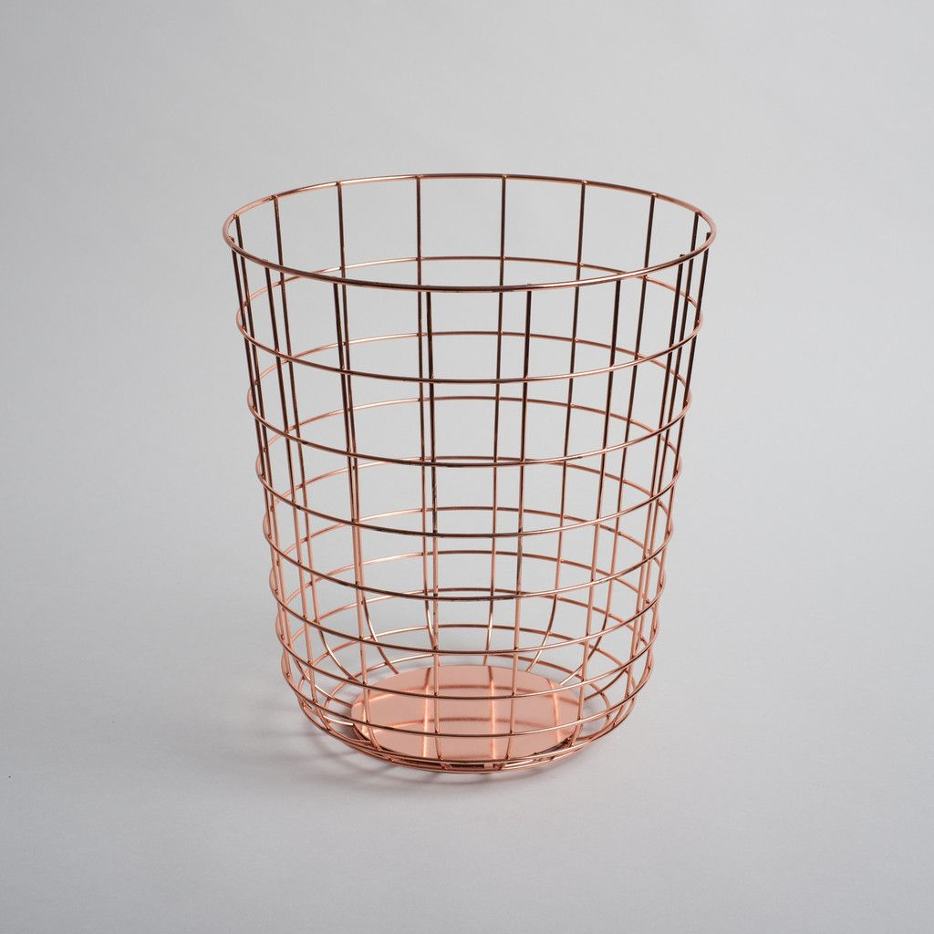 Sleek Wire Bin For The Office, Bedroom Or Bathroom