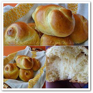Nudos de challah, #recipe #bread