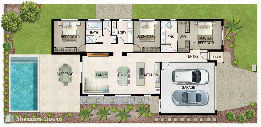 Illustrated House Plan | Home, General | Pinterest | Ground Floor