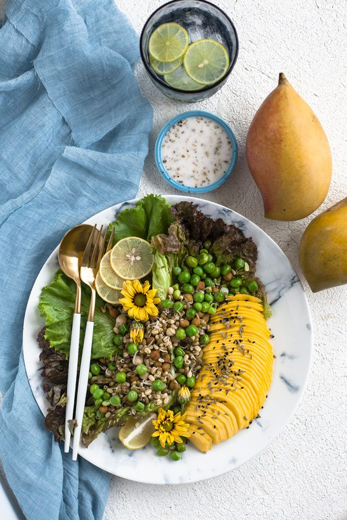 Mango and Pea Salad - Aapplemint