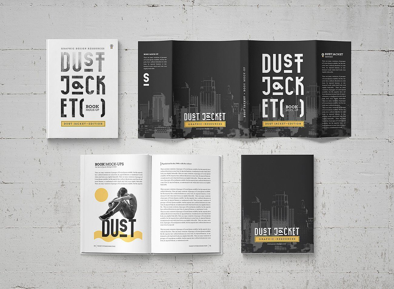 book mock up dust jacket edition by punedesign graphics mockup
