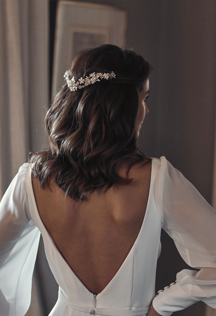37 beautiful half up half down hairstyles for the modern bride – TANIA MARAS | bespoke wedding headpieces + wedding veils
