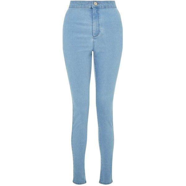 bf3e65a487 Miss Selfridge STEFFI Cloud Blue Super High Waist Jeans ( 29) ❤ liked on  Polyvore