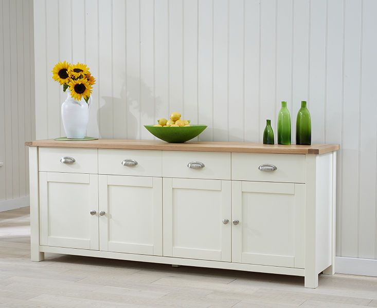 Banbury Painted Oak Furniture Cream Extra Large Sideboard In Home Furniture Diy Furniture