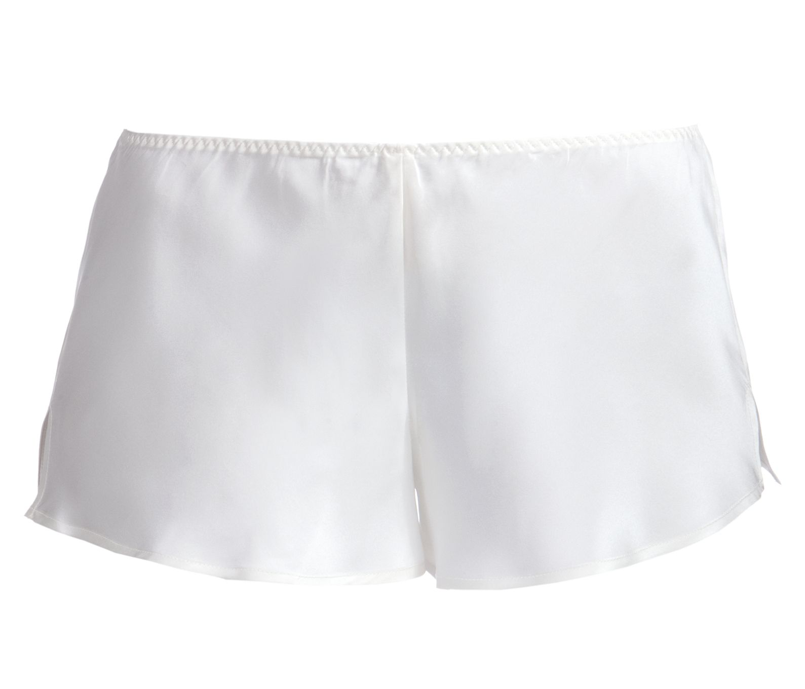P-SILKY NIGHTS - Hose - Palmers lingerie white silk shorts