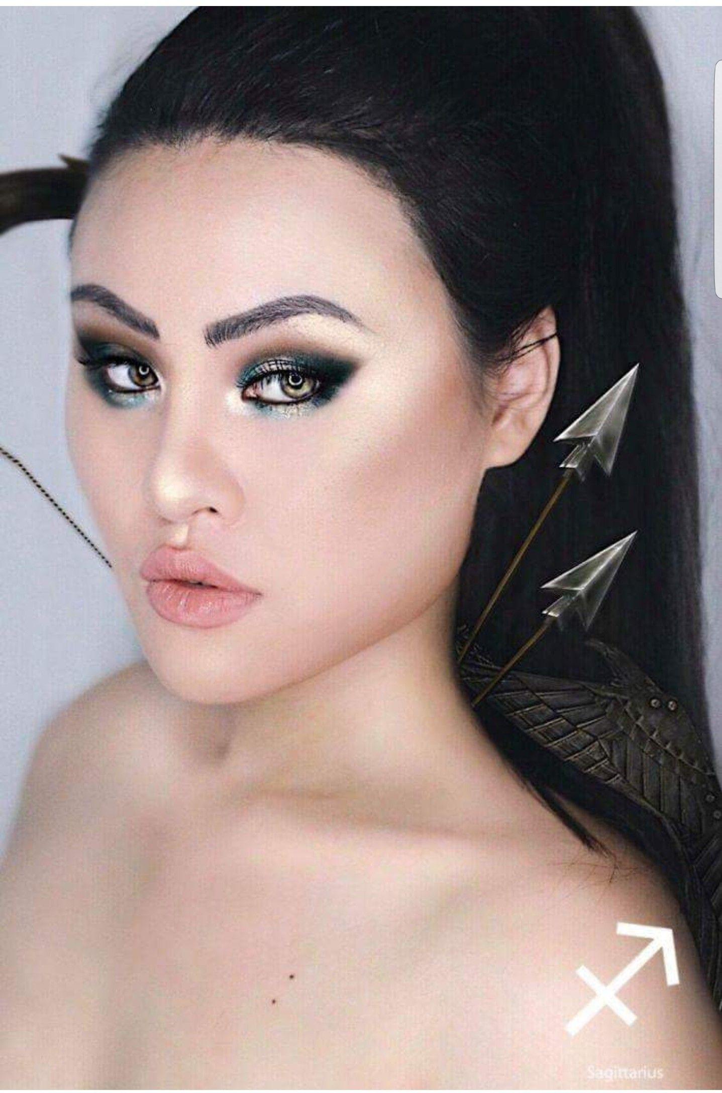 Zodiac Inspired Make up Sagittarius Makeup, Creative