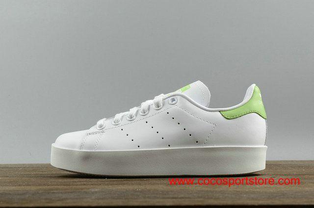 Gladys Atento Vago  Adidas Stan Smith Platform S75315 White Green Womens Increase Shoes | Adidas  stan smith, Bold shoes, Stan smith