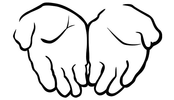 Two Attached Hands Coloring Pages Best Place To Color Heart Coloring Pages Coloring Pages Hand Coloring