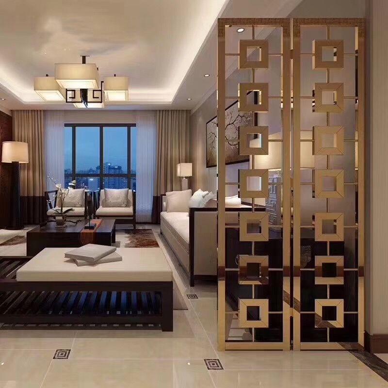 Metal Screen Living Room Partition Design Room Partition Designs Metal Interior Design