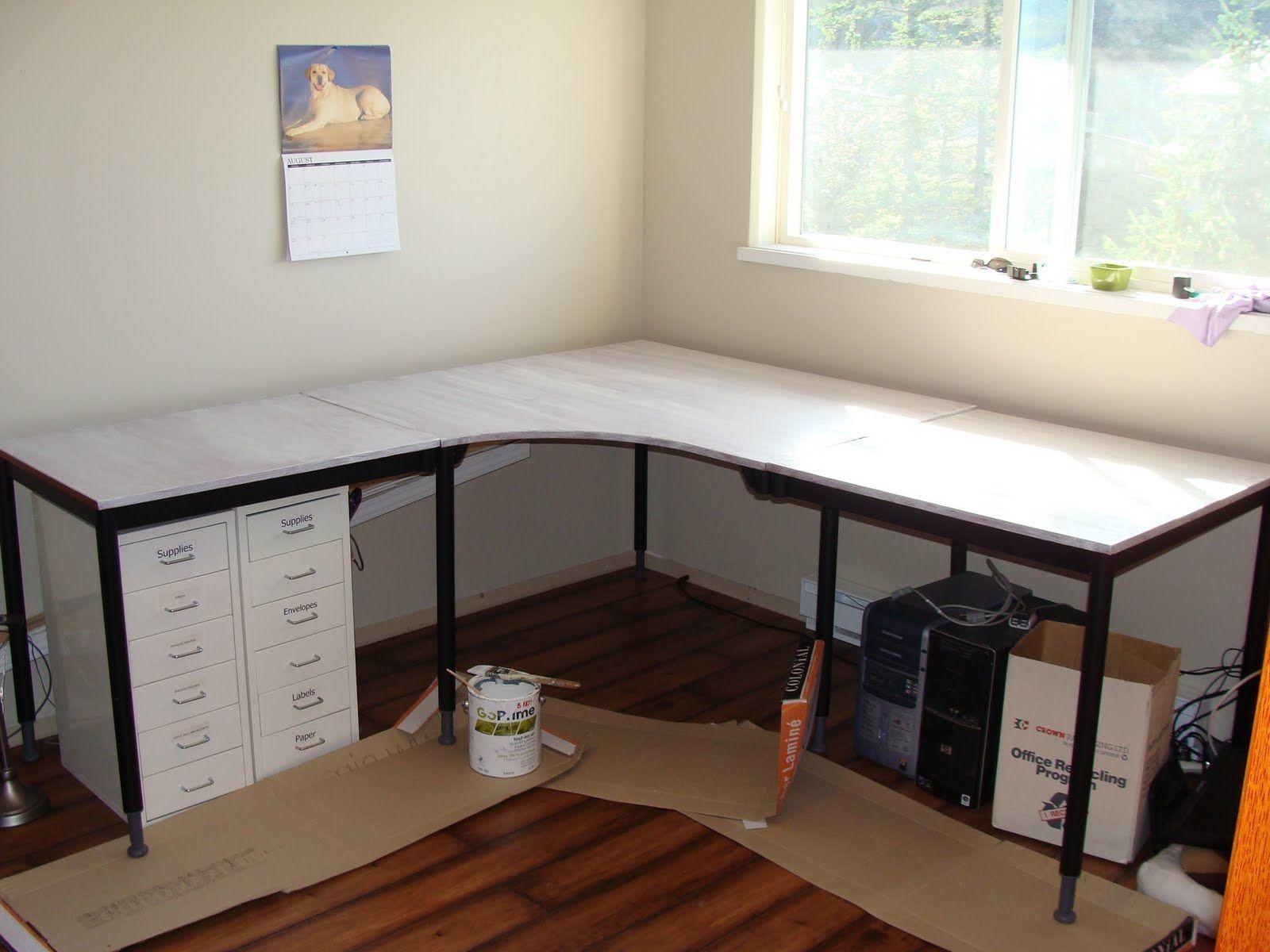 15 diy l shaped desk for your home office corner desk desks pottery barn inspired and - Diy small corner desk ...