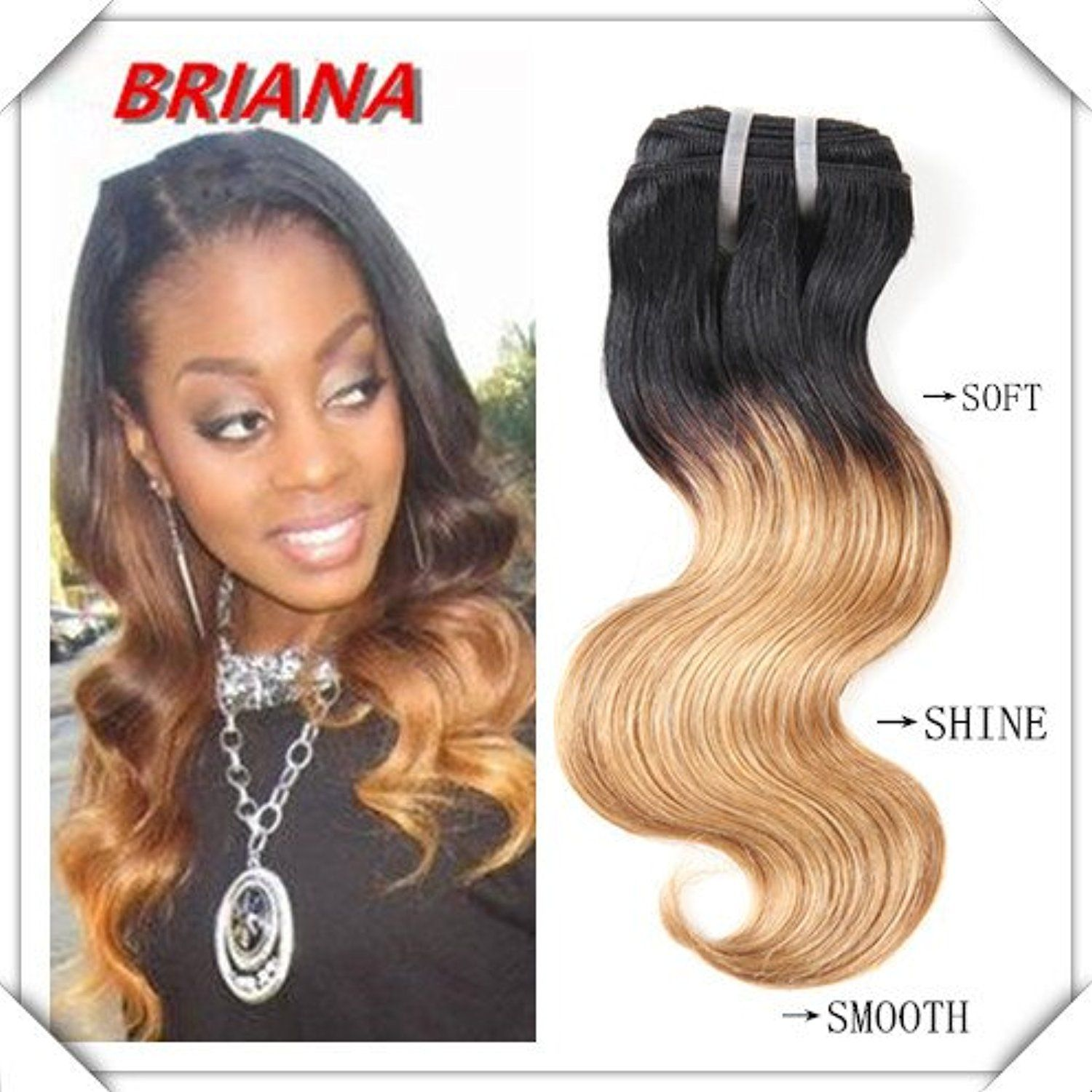 Brazilian Hair Extensions Ombre Color Hair Can Be Dyed And Permed 4