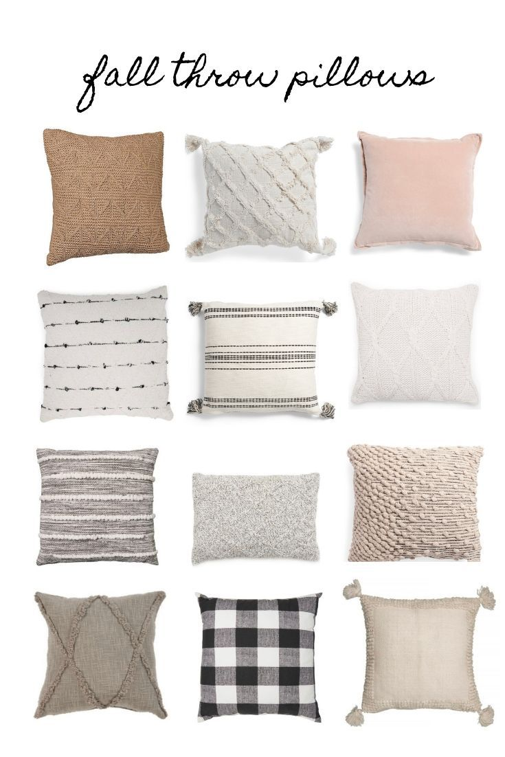 Cozy cute ( affordable) fall throw pillows #modernfarmhouselivingroom