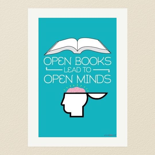 50 awesome posters that encourage to read books pinterest open