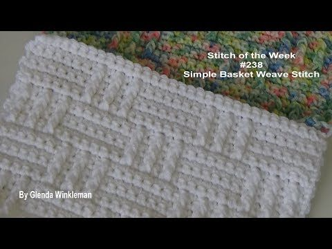 Stitch of the Week #238 Simple Basket Weave Stitch - YouTube ...