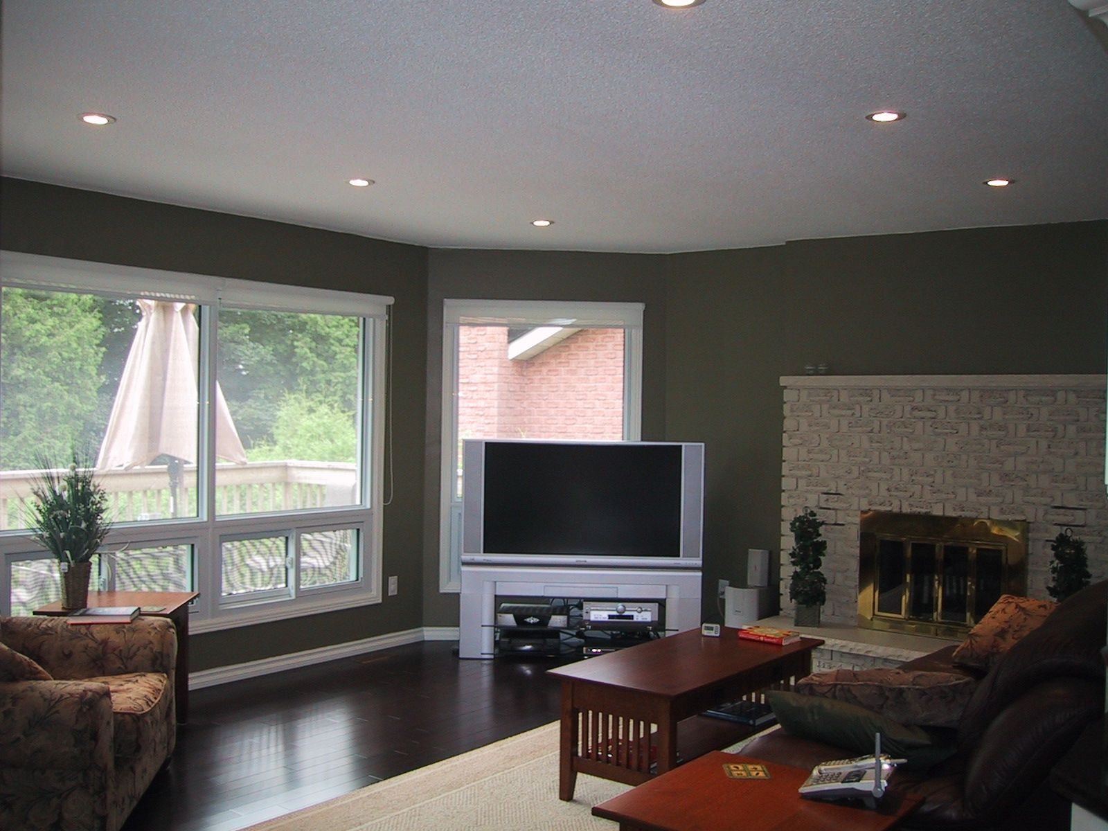 Recessed ceiling and lighting - Mediterranean - Family Room ...