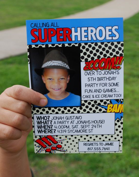Printable Superheroes or Comic Book Party by LittleMissCustom, $9.00
