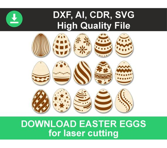 Wooden Easter Egg with Cut in the Middle Flowers Decoration Cut Out Patterns MDF