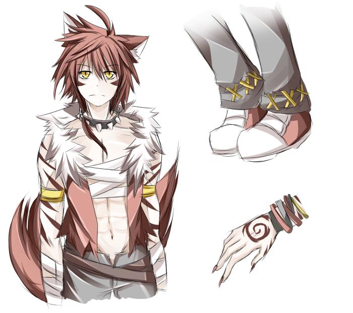 Half Human Half Wolf Male red_wolf_fox_ad...