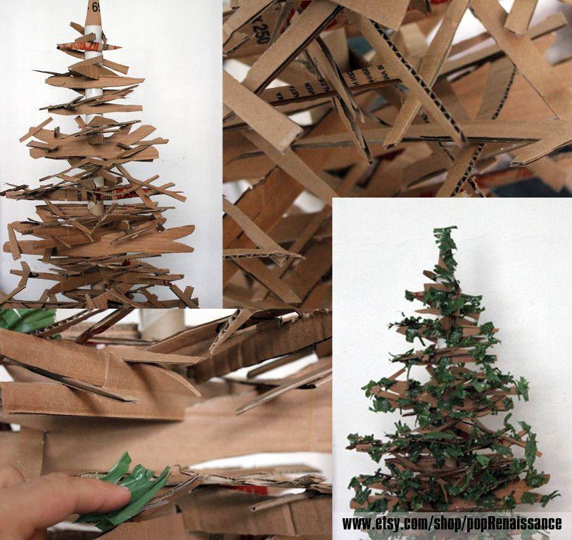 Eco Friendly Christmas Tree From Cardboard Eco Friendly Christmas Christmas Tree Decorations Diy Book Christmas Tree