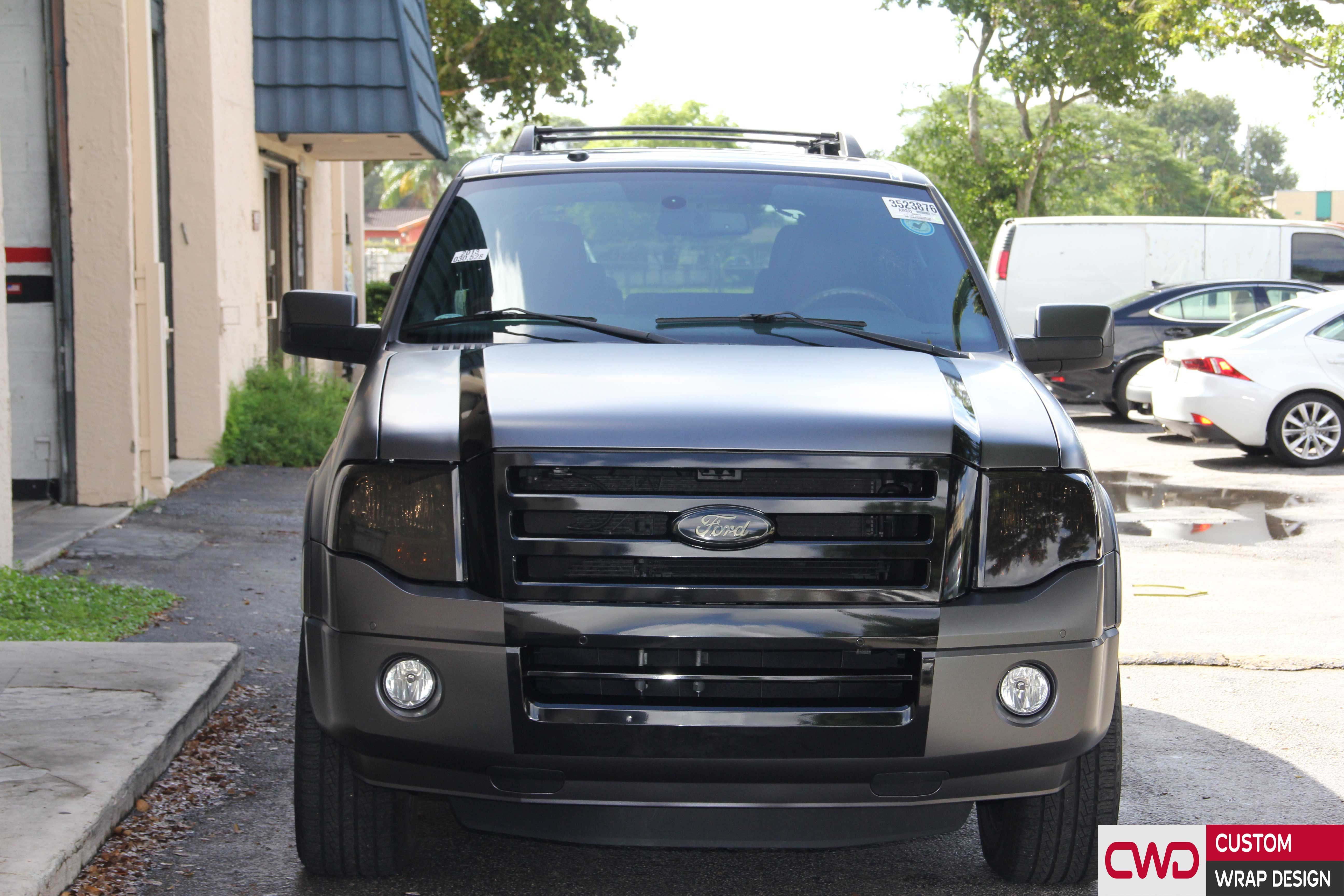 Ford Expedition Full Wrap In Satin Grey 3m Film Book Appointment Today 786 558 4848 Www Cwdwrap Com Car Carwrap Ford Expedition Expedition New Trucks