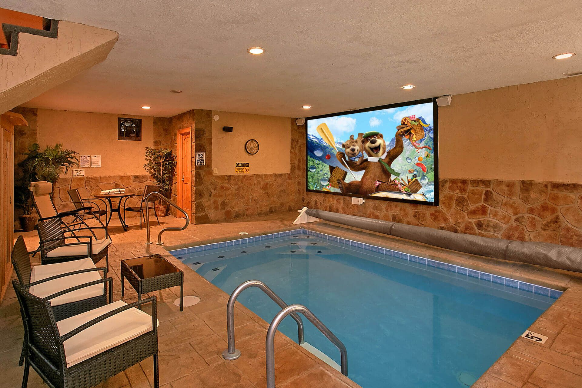 Gatlinburg Cabin Rentals In The Smoky Mountains Indoor Pool Design Small Indoor Pool Luxury Swimming Pools