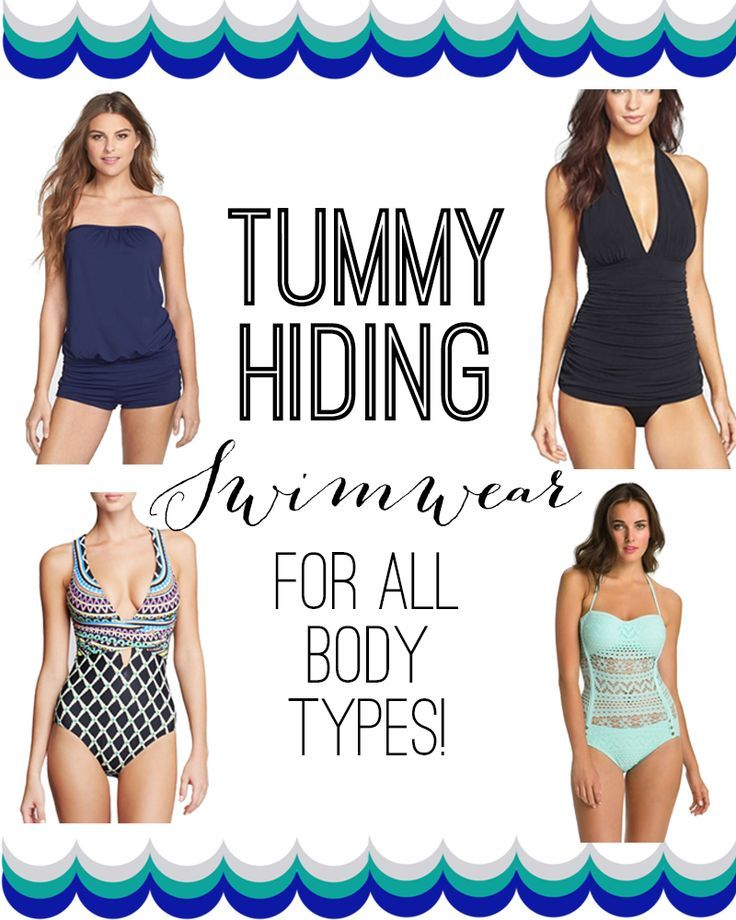 37906c1720 Tummy Hiding Swimwear -- lots of flattering options for ALL body types!