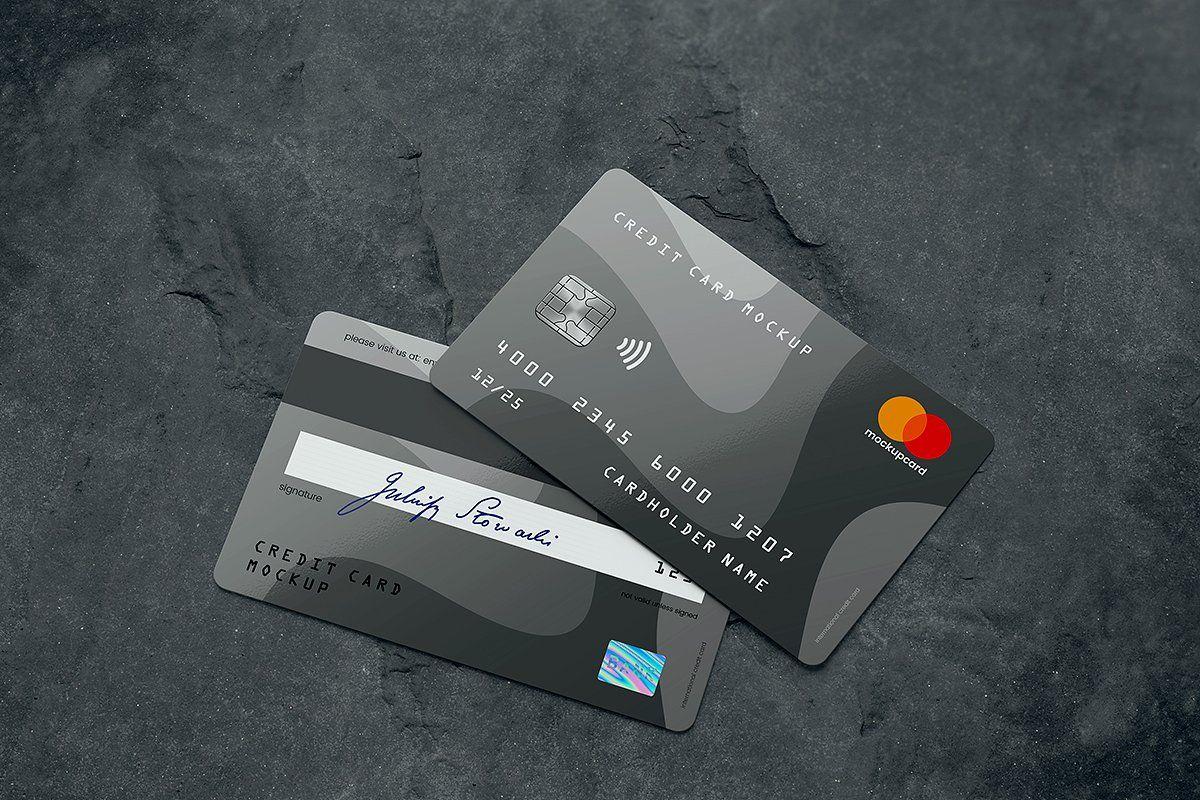 Credit card membership card mockup aff membership