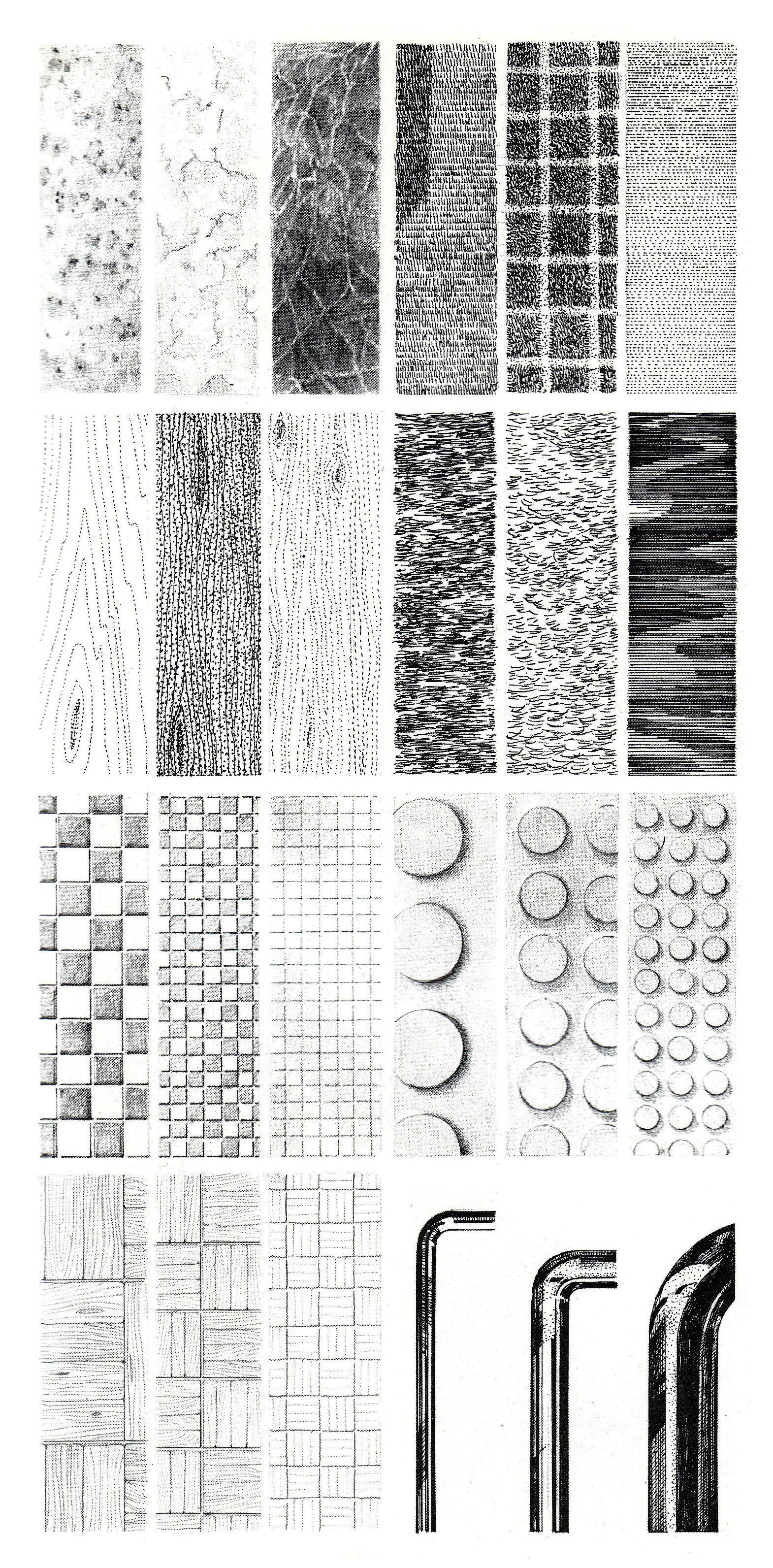 Architecture Drawing Practice http://www.designshifts/learning-to-illustrate-textures