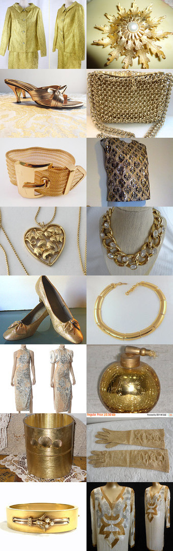 ☀Gold Vintage☀ by Dorota and Monika on Etsy--Pinned with TreasuryPin.com