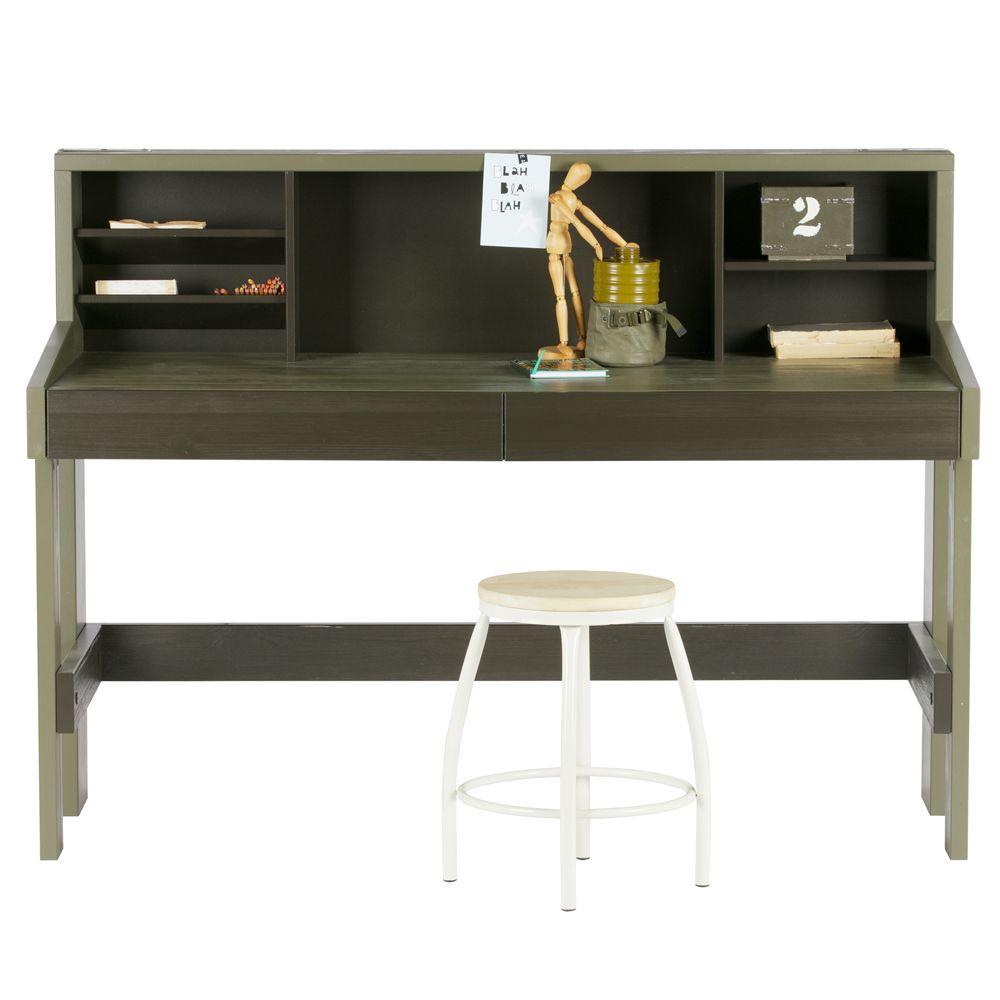 Schreibtisch derk xl kiefer geb rstet gr n auswahl 1 x for Schreibtisch xl