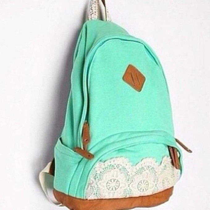cute backpacks | ... backpack mint green bag girly cute seafoam ...