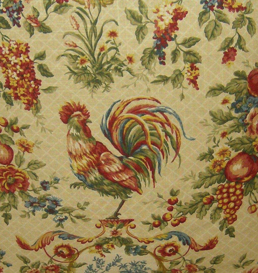 French Chicken Fabrics Fabric With A Rooster