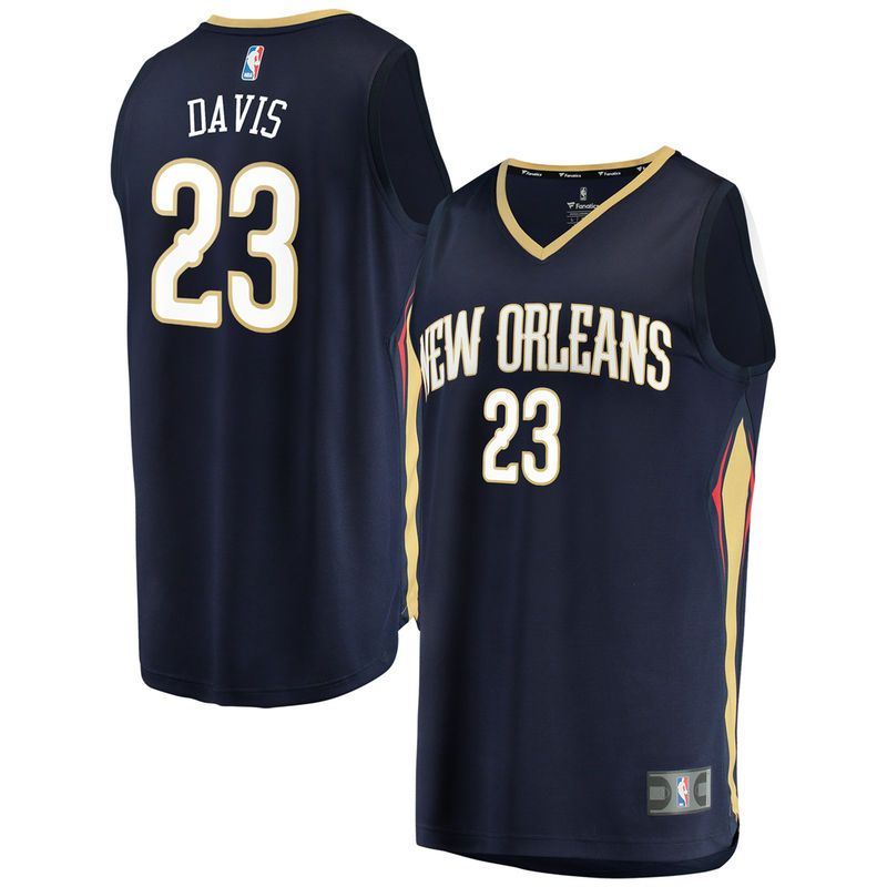 04f669301fe7 Anthony Davis New Orleans Pelicans Fanatics Branded Youth Fast Break  Replica Jersey Navy - Icon Edition