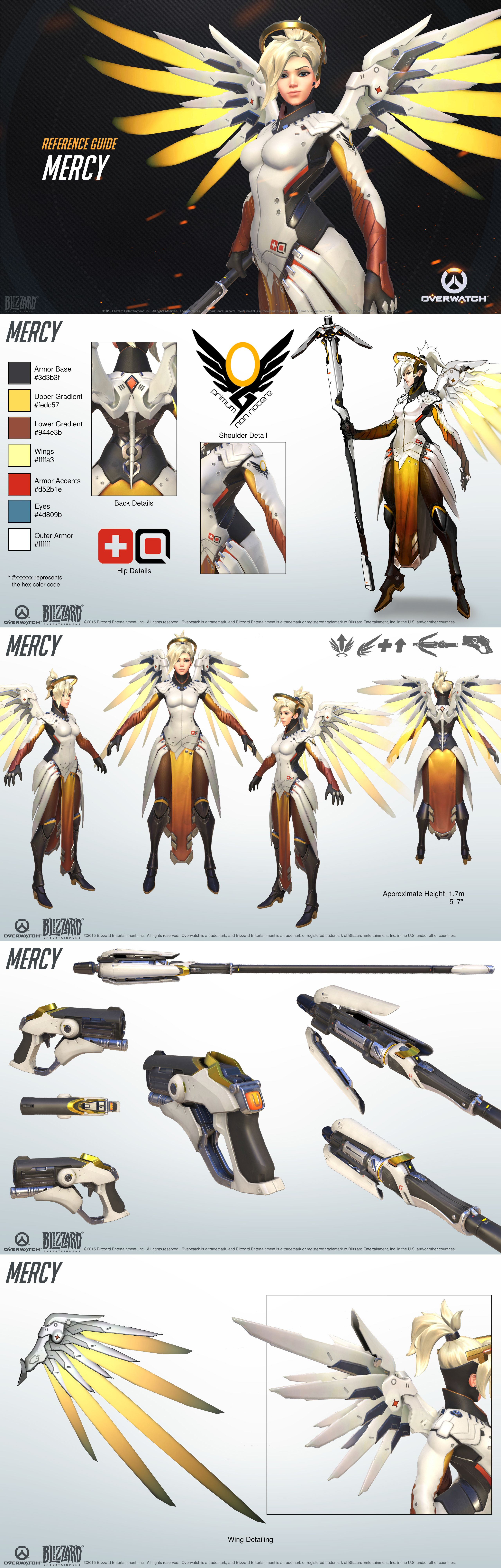 overwatch - mercy reference guide | characters | pinterest