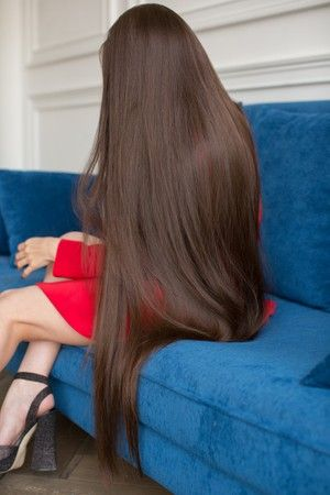 video - thigh length hair and