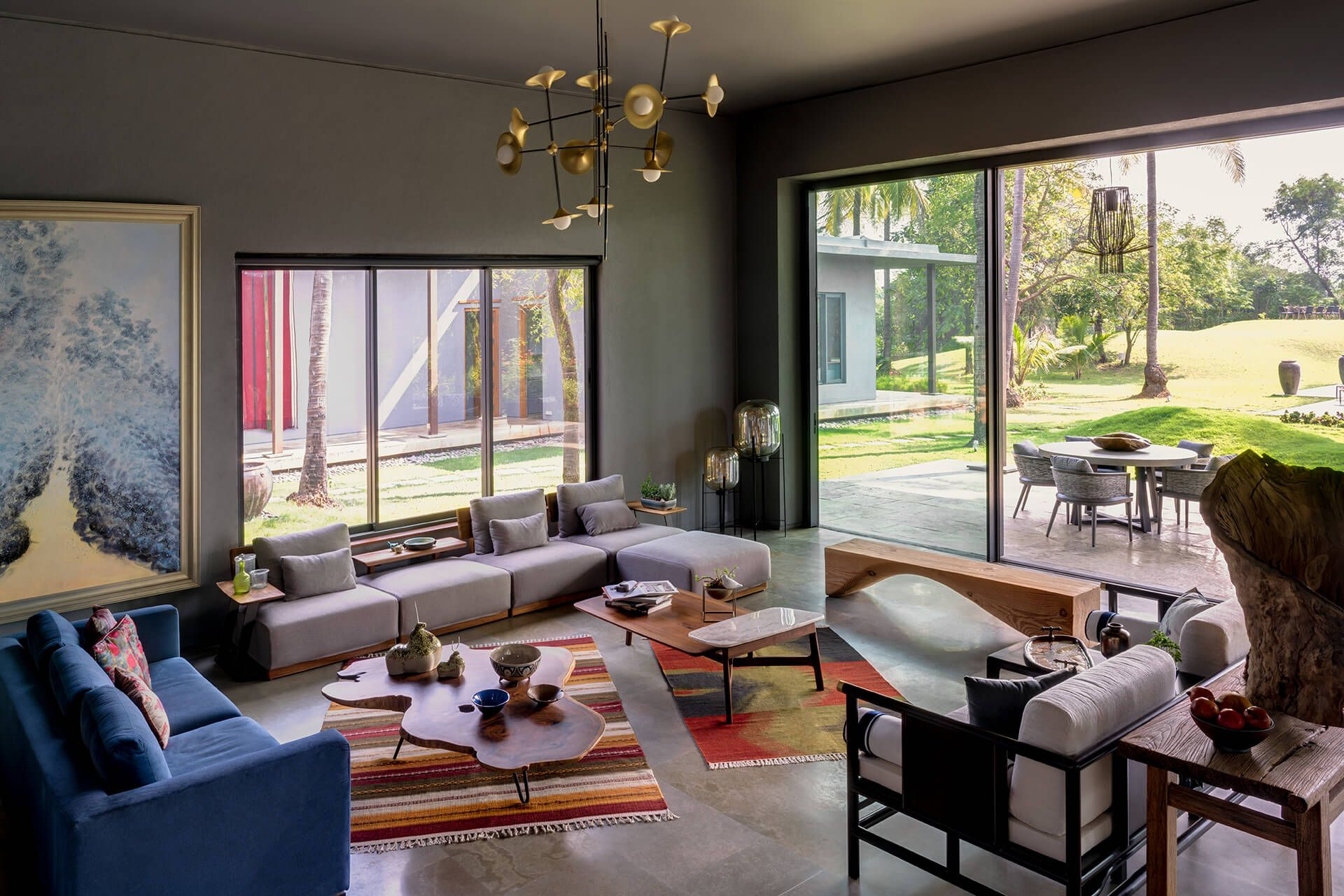 The Warm Tones With Natural Lighting Lounge Space Of A Holiday Home In Alibaug India Https I Re In 2020 What Is Interior Design Interior Design Interior Architecture