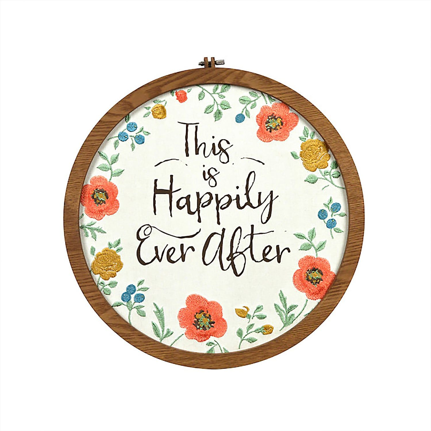 New View Happily Ever After Embroidery Hoop Wall Art Affiliate Embroidery Happily View Art In 2020 Embroidery Hoop Wall Art Embroidery Hoop Wall Wall Art