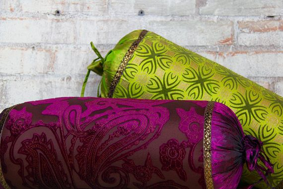 Plum Bolster Pillow purple bolster Neck pillow Magenta
