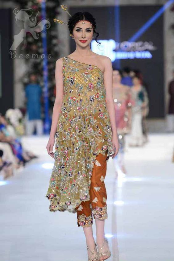 Latest Designs Stani Fashion Short Frocks With Capris 2017 Beststylo