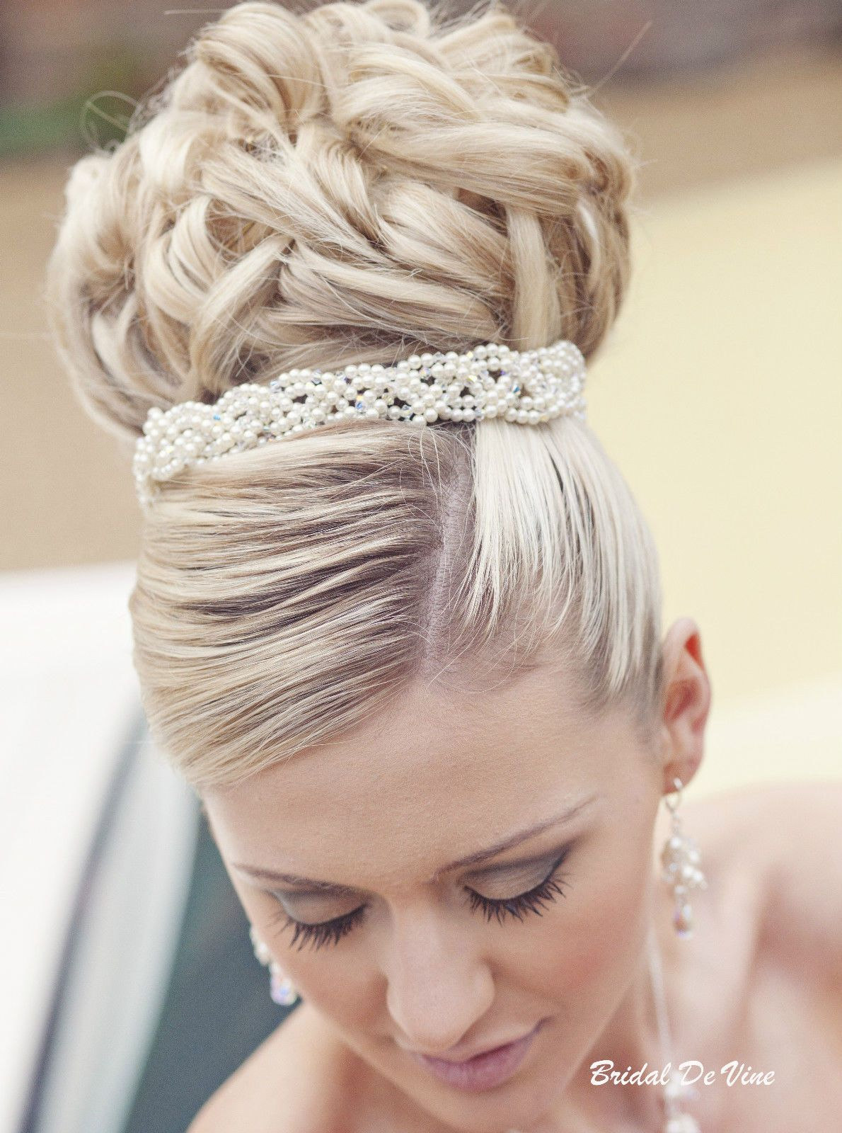 marcia' crystal & pearl bun wrap - hair band | wedding hair