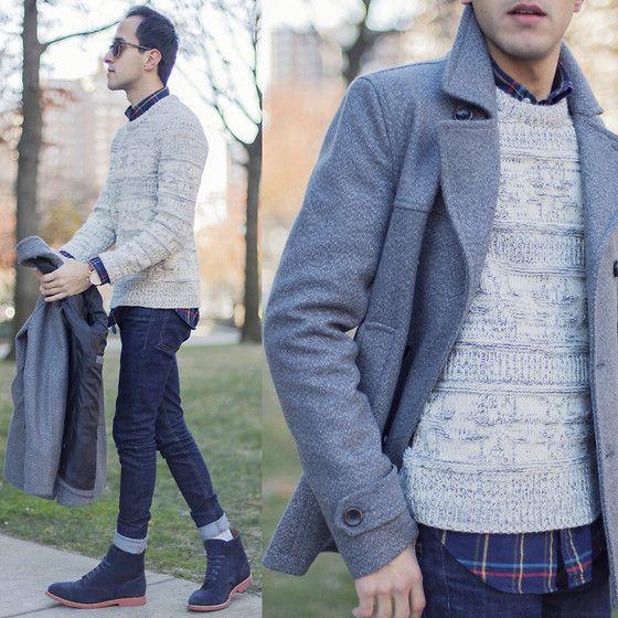 Latitude Supply Co Jacket, Onassis Sweater, Walk Over Shoes #mensfashion #menswear